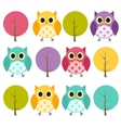 Ow and Treel Pattern Background vector image vector image