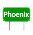 Phoenix green road sign vector image vector image