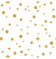Polka dot gold white 3 haotic vector image vector image