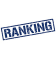 ranking stamp vector image vector image