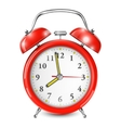 Red Alarm Clock Isolated On White vector image vector image