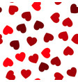 red hearts seamless pattern random scattered vector image vector image