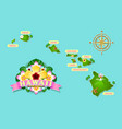 rough and not detailed hawaiian islands vector image