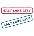 Salt Lake City Rubber Stamps vector image vector image