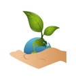 save the world planet ecology vector image