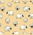 seamless stylized sheep herd print vector image
