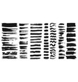 set of different ink paint brush strokes isolated vector image vector image