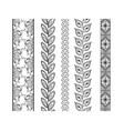 set ornamental borders decorative elements vector image