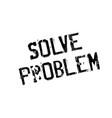 solve problem rubber stamp vector image vector image