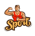 sport logo gym fitness or bodybuilding vector image vector image