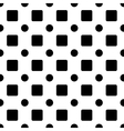 Square and circle seamless pattern vector image vector image