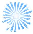 Sunbeams vector image vector image