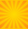 sunburst background orange background with radial vector image vector image