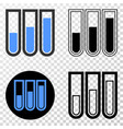 test-tubes eps icon with contour version vector image vector image