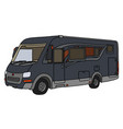 the dark large motor home vector image