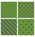 tile pattern set with green and grey backgrounds vector image vector image