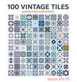 tiles portuguese patterns antique seamless design vector image