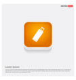 usb icon orange abstract web button vector image