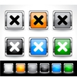 web design buttons vector image vector image