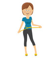 beautiful girl with the measuring tape vector image