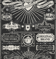 Set of Calligraphic Design Elements on Blackboard vector image