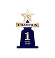 Champions cup award trophy winner vector image