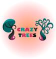 Crazy Trees vector image