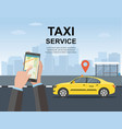 taxi service concept web page vector image