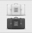 3d realistic retro leather white and black vector image vector image