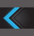 abstract blue light arrow direction on dark grey vector image vector image