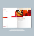 annual report template layout design corporate vector image