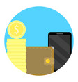 balance finance icon on phone vector image vector image
