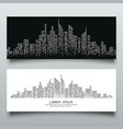 banners abstract building dot black and white vector image
