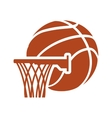 basket ball and basketball design vector image vector image