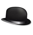 Black bowler hat vector image