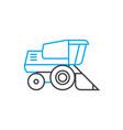 bulldozer thin line stroke icon bulldozer vector image