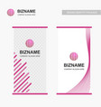 business banner design with pink theme and world vector image