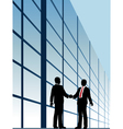 business people shake vector image vector image