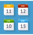 Calendar Icon Set Flat Design vector image