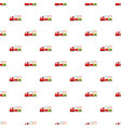 children locomotive pattern vector image vector image