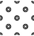 chocolate donut pattern seamless black vector image vector image