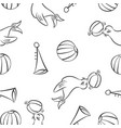 collection of element circus doodles vector image vector image