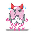 devil cute jellyfish character cartoon vector image vector image