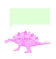 dinosaur thinking 80s vector image vector image