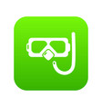 diving mask snorkel icon green vector image