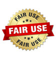 fair use round isolated gold badge vector image vector image