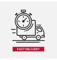 Fast delivery service single icon vector image