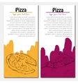 Fast food background Pizza banners vector image vector image