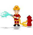firefighters cartoon vector image vector image