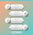 four separate white round elements with thin line vector image vector image